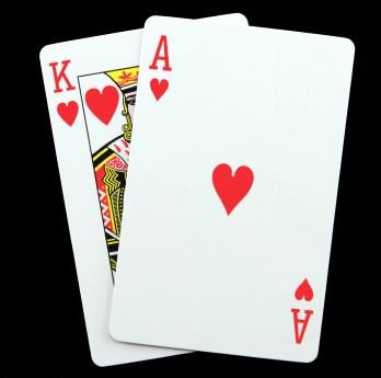 21 blackjack hearts