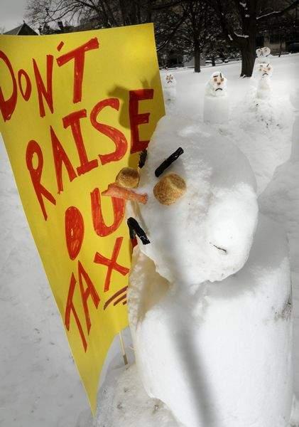 Snowman protester 2