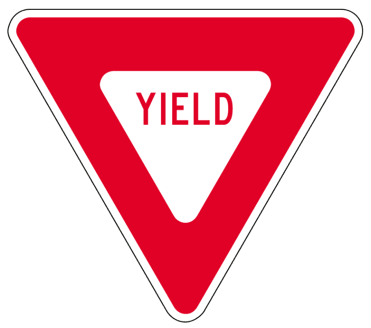 yield sign Reading between the signs