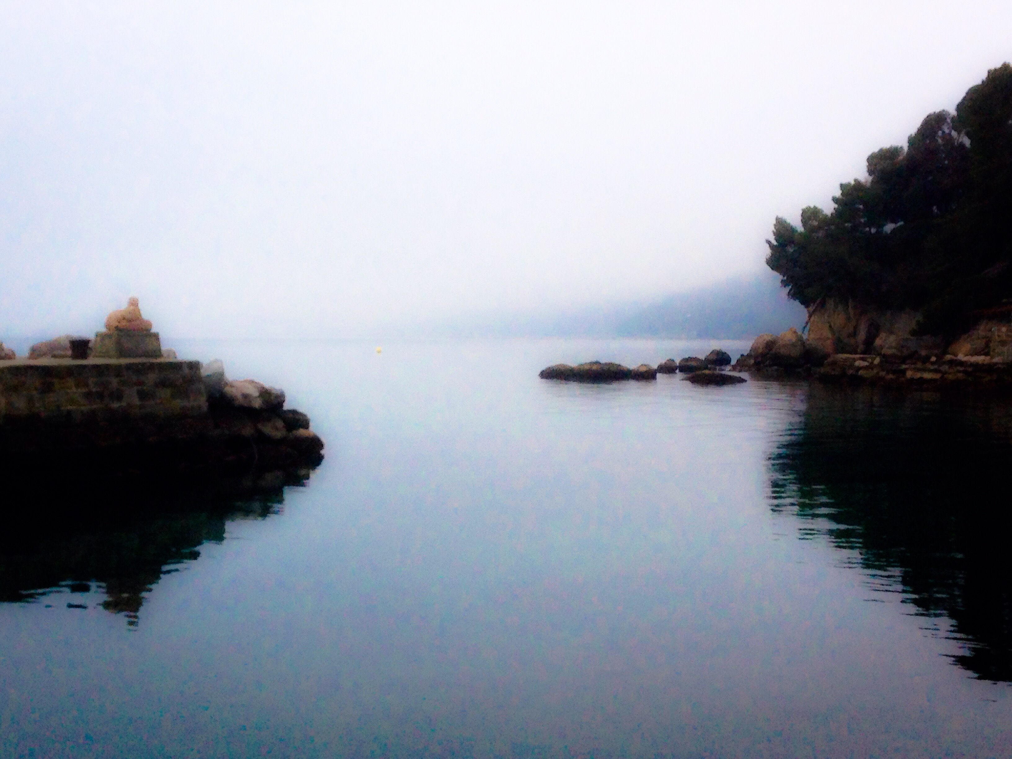 """On the misty day that we were there, the landing was reminiscent of Tolkein's """"Gray Havens""""."""